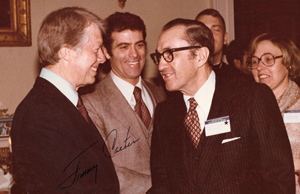 Arthur J. Holland with President Jimmy Carter